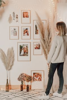 DIY déco : un mur de cadres bohème - C by Clemence Photo Cabine, Style Retro, Decoration, Frames, Gallery Wall, Blog, Home Decor, White Picture Frames, Wall Of Frames