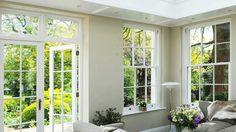 Interior looking through open doors