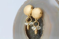 Gold Designer Earrings Vintage by TequilaCloset on Etsy, $15.00