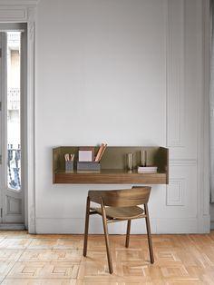 Ein Design Schreibtisch Für Die Schwebende Wandmontage Aus Der Kollektion  Stockholm Von Punt. #Schreibtisch