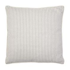 Bannatyne Dove Grey Dogtooth Wool Cushion