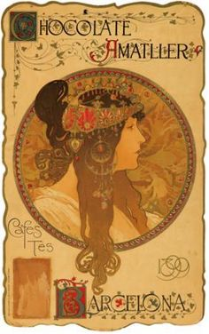 Chocolate Amatller, 1898 - Alphonse Mucha
