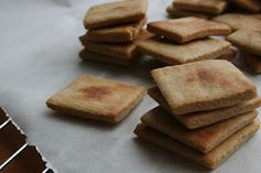 ffwD ~ Lyonnaise Garlic and Herb Cheese with Homemade thin wheat Crackers - Well Floured