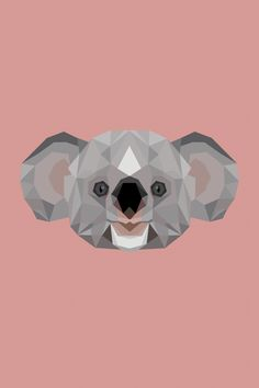 Lowpoly Koala ★ Find more Minimalistic #iPhone + #Android #Wallpapers at…