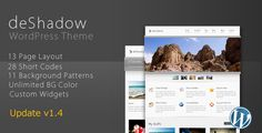 DeShadow is a premium wordpress theme with clean and stylish design. It has unlimited background color and with 11 background patterns plus two skin( Dark or Light style ), you can create your own stunning portfolio or blog
