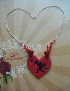 Stamped Heart DIY Pendant   AllFreeJewelryMaking.com