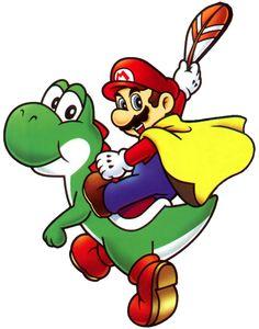 Mario and Yoshi - Super Mario World 2 - Yoshi's Island
