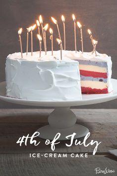 Fourth of July Ice-Cream Cake via @PureWow via @PureWow
