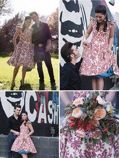 Johnny Cash engagement photos...love!