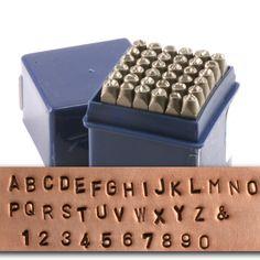 "Metal Stamping Tools Economy Block Uppercase Letter & Number Stamp Set 1/8"" (3.2mm)"
