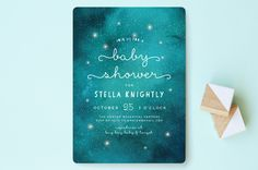 Celestial Baby Shower Invitations by Grace Kreinbrink at minted.com