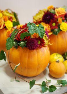Pumpkin table decorations.