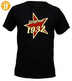 Birthday Shirt - Original 1932 - Lustiges T-Shirt als Geschenk zum Geburtstag - Schwarz, Größe:S (*Partner-Link)