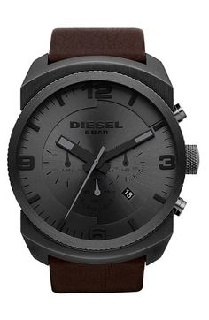 Diesel F-Stop Gents Chronograph Watch Gents Watches, Stylish Watches, Cool Watches, Black Watches, Unique Watches, Wrist Watches, Diesel Watches For Men, F Stop, Outfits Hombre