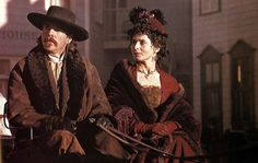 Dennis Quaid and Isabella Rosellini as Doc Holliday and his girlfriend Big Nose Kate, in the 1994 film Wyatt Earp.