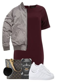"""6/28"" by trillgolddfashionn ❤ liked on Polyvore featuring Dorothy Perkins, Louis Vuitton and adidas Originals"