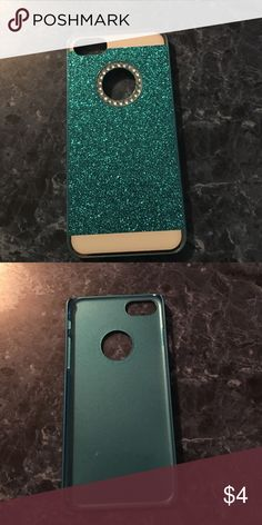 Blue iPhone 7 phone case Blue iPhone 7 case with glitter. Brand New never used. Accessories Phone Cases