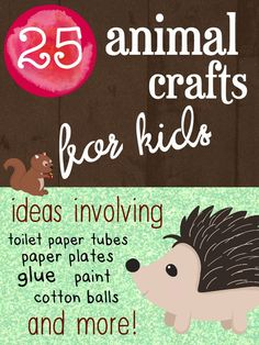 25 Animal Crafts for Kids, fun activities and art