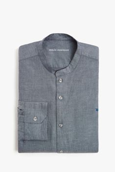 Chambray Cotton Shirt - casual shirts | Adolfo Dominguez