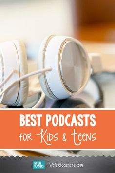26 Best Podcasts for Kids in Elementary, Middle, and High School. What are the best podcasts for kids to listen to in the classroom? Teachers share their favorite picks for elementary, middle, and high school. English Lesson Plans, School Resources, Teaching Resources, Teaching Ideas, Classroom Activities, Educational Activities, Learning Activities, Teaching Vocabulary, Middle School English