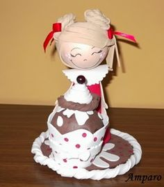 Tutorial o paso a paso de fofucha con helado o cupcake - El blog de Amparo