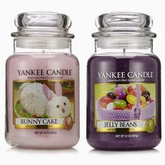 "Yankee Candle Easter candles""Jelly Beans"" and ""Bunny Cake"""