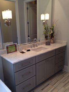 Bathroom vanity and lighting
