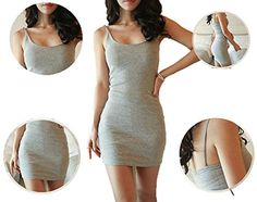 (ジャスト モデル) Just Model Women's Jersey Tank Dress Small, Grey ノーブランド品 http://www.amazon.co.jp/dp/B011NAA0M8/ref=cm_sw_r_pi_dp_3VT0vb13KEXVK
