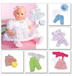 M4338 | Baby Doll Clothes | Crafts/Dolls/Pets | McCall's Patterns