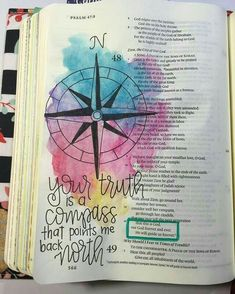 Psalm - Bible Journaling by Nicki Verbil Scripture Art, Bible Art, Bible Scriptures, Bible Quotes, Scripture Tattoos, Bible Drawing, Bible Doodling, Bibel Journal, To Do Planner