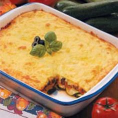 Cheesy Zucchini bake, for all those giant zucchini you're not sure what to do with.