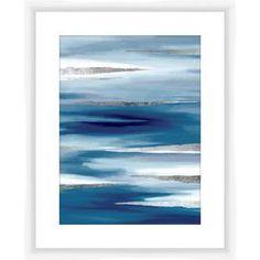 Blue & Silver Framed Giclee Print