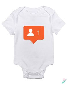 Instagram New Follower Baby Clothes Infant Bodysuit by TeenieTees