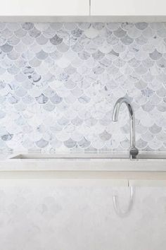 Marble scale tiles - I want these in my bathroom, somewhere, somehow