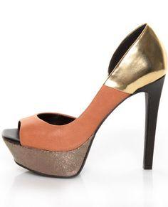Jessica Simpson colorblock heels. Love.