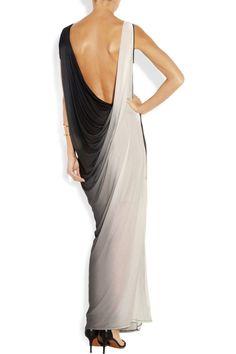 Helmut Lang Shadow ombré modal and silk-blend jersey maxi dress NET-A-PORTER.COM