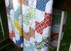 Bowtie Quilts - hanging by twinfibers, via Flickr