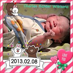 Welcoming baby Charles Xander Wibisono.
