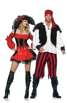 Sexy Pirate Couples Halloween Costume | MonsterMarketplace.com