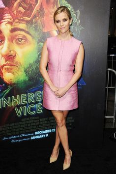 "Reese Witherspoon in Balenciaga at the premiere of ""Inherent Vice"""