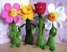 Freundliche Blumen... PDF Crochet Pattern von KTBdesigns auf Etsy