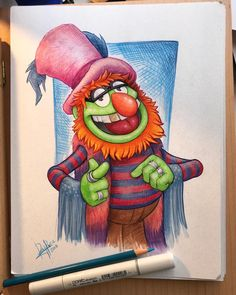 "16 Likes, 4 Comments - Rey Paez (@reypaezart) on Instagram: ""Dr. Teeth @carriejc1983 • • • • • #Drteeth #drteethandtheelectricmayhem #themuppets #prismacolor…"""