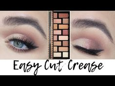 Too Faced Born This Way The Natural Nudes Eyeshadow Palette tutorial This is a Mauve Easy Cut Crease tutorial using Too Faced Born This Way Natural Nudes Eye. Cut Crease Eyeshadow, Cut Crease Makeup, Nude Eyeshadow, Nude Makeup, Hair Makeup, Palette Too Faced, Eye Palette, Eyeshadow Palette, Eyeshadow Ideas