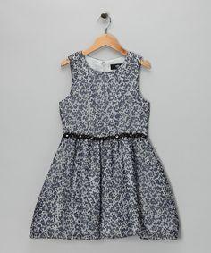 Gray Leopard Chiffon Dress
