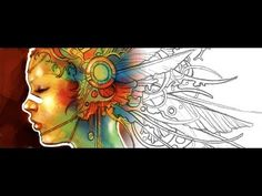 Tip: Turning Scanned Pencil Sketches into Digital Paintings - YouTube