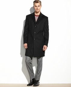 Kenneth Cole Reaction Coat, Raburn Wool-Blend Overcoat Slim-Fit
