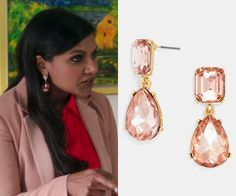 My mind is a little distracted right now so I know you will understand when I say these are not the exact BaubleBar earrings that Mindy wore but they are really really similar. /// (super similar) BaubleBar 'Diva' Drop Earrings - $28  p.s. they also come in emerald, sapphire and clear crystal! Worn with Karen Millen skirt