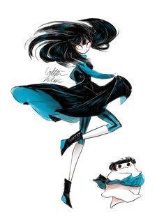 spin by CottonValent on DeviantArt Kawaii Doodles, Kawaii Art, Comic Anime, Anime Art, Creepy Cat, Beautiful Dark Art, Arte Sketchbook, Sad Art, Cute Anime Pics