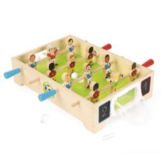 Mini houten tafelvoetbalspel