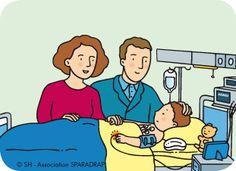 Tes parents peuvent-ils rester avec toi ? Association SPARADRAP, nombreuses images couleur médicales Ok OK OK